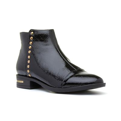 Abrielle Womens Black Patent Ankle Boot