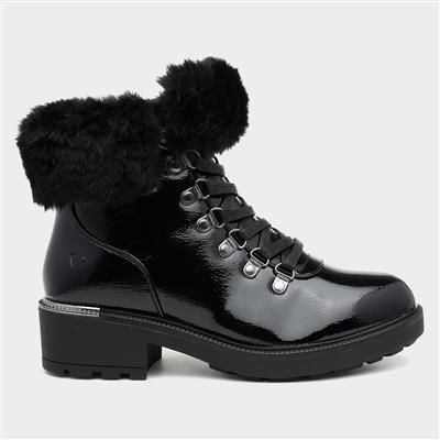Antonia Womens Patent Ankle Boot