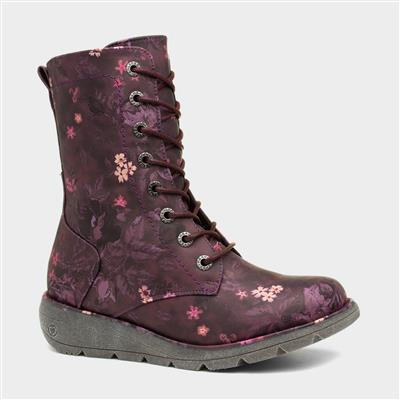Martina 2 Womens Purple Ankle Boot