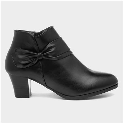 Ava Womens Black Heeled Boot