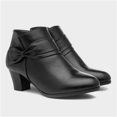 Ava Womens Black Heeled Boot