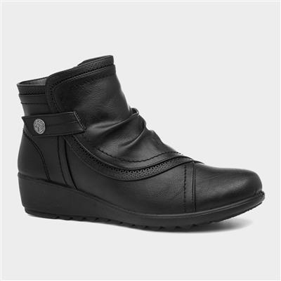 Mona Womens Black Ankle Boot