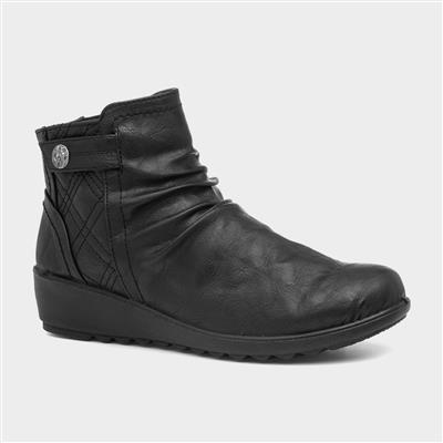 Layla Womens Black Ankle Boot