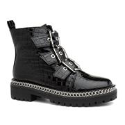 Truffle Wonda1 Womens Croc Patent Ankle Boot (Click For Details)