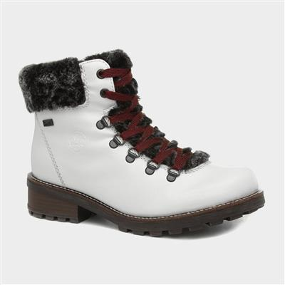 Womens White Patent Boot Z0434-80