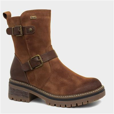 Cognac Womens Brown Leather Ankle Boot