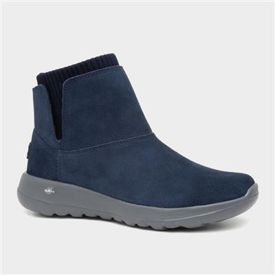 On the Go Womens Suede Navy Boot