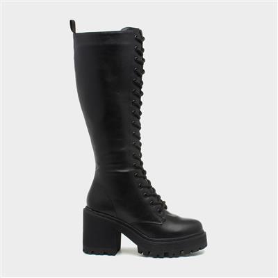 Fuzzy31 Womens Black Knee High Boot