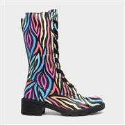 Adesso Roxy Womens Multi Coloured Zebra Print Boot (Click For Details)