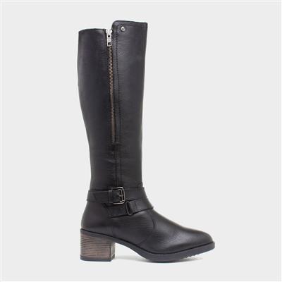 Jive Womens Black Leather High Leg Boot