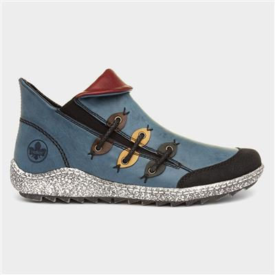 Womens Blue Ankle Boot