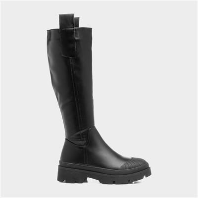 Romaldo Womens Black High Leg Boot