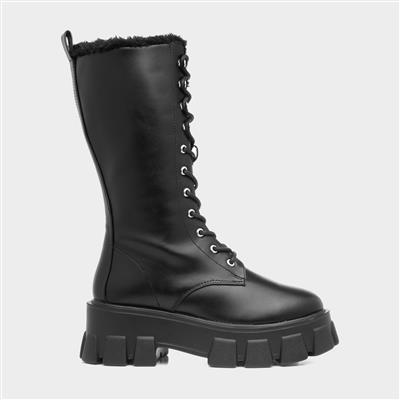 Rota Womens Black Lace Up Boot