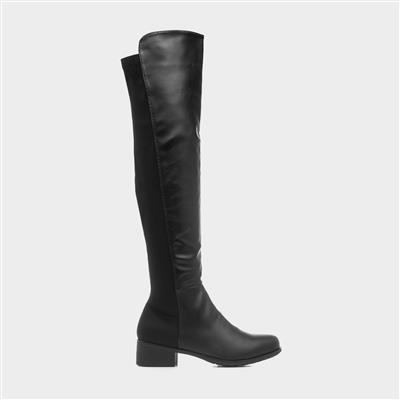 Tjac Womens Black High Leg Boot