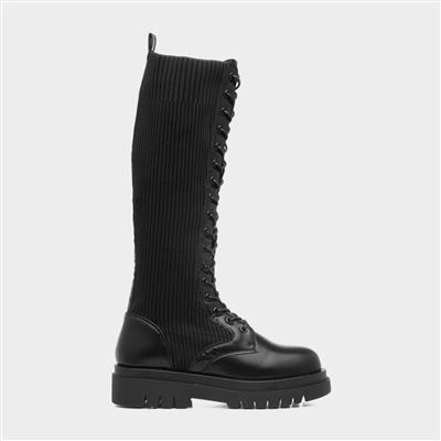 Vega Womens High Leg Lace Up Boot