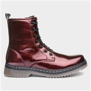 Fabs Womens Burgundy Patent Ankle Boot (Click For Details)
