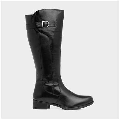 Caitlyn Womens Black Leather Boot