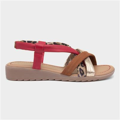 Ronnie Womens Multi Coloured Leather Sandal