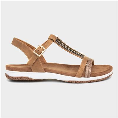 Perrie Womens Sandal in Tan