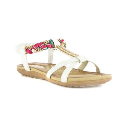 e58a62031 Lilley Womens White Diamante Flat Sandal. 1   5. Main Product Image. Main  Product Image
