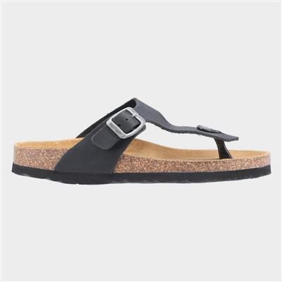 Womens Kayla Slip On Sandal in Black