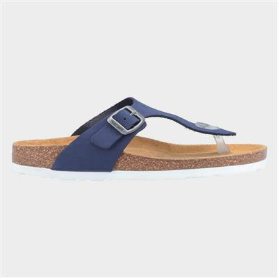 Womens Kayla Slip On Sandal in Blue