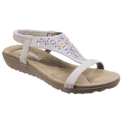 Womens Nicosia White Leather Sandal