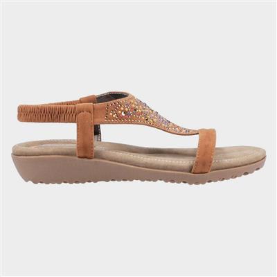 Womens Nicosia Tan Leather Sandal