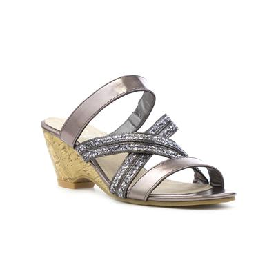 62f86a26ae9 Lilley Womens Pewter Cross Strap Wedge Sandal. 1   5. Main Product Image.  Main Product Image