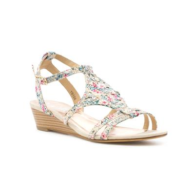Womens Multi Coloured Floral Wedge Sandal