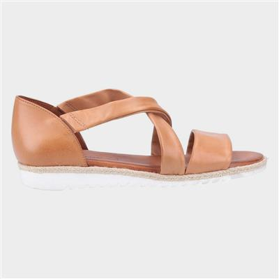 Womens Gemma Tan Leather Sandal