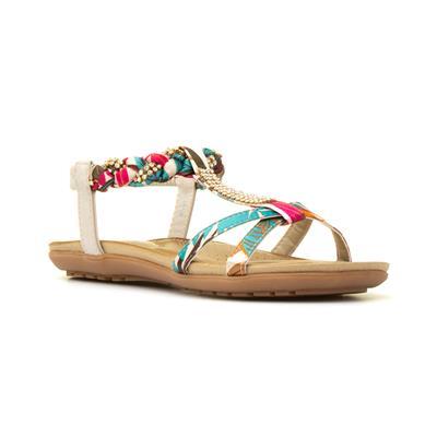 9b3c2f4595d5 Lilley Womens Multi Coloured T-Bar Flat Sandal. 1   5. Main Product Image.  Main Product Image