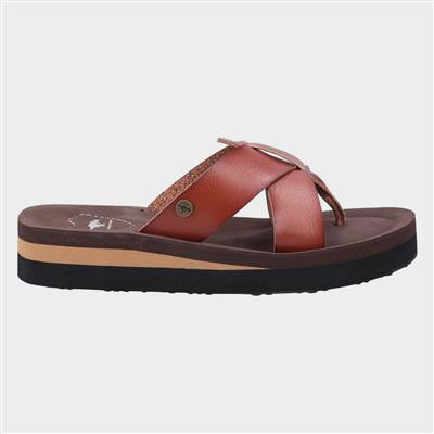 Wilmer Burn Womens Sandal in Brown