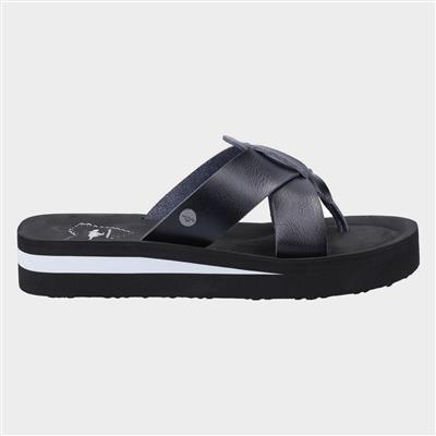 Wilmer Burn Womens Sandal in Black