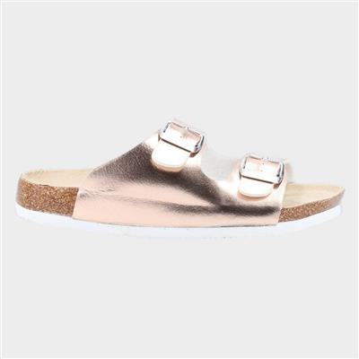 Womens Nimes Two Buckle Sandal in Pink