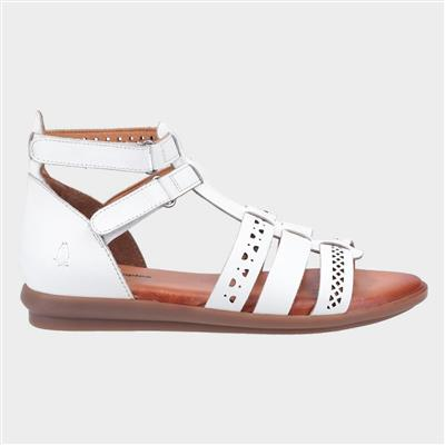 Nicola Womens Leather Sandal in White