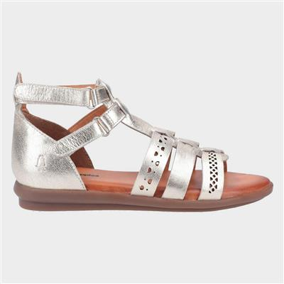 Nicola Womens Leather Sandal in Gold