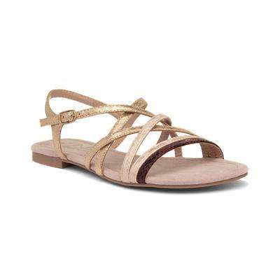 Womens Gold Flat Slingback Sandal