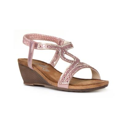 75a6f3bc30 Lilley Womens Pink Diamante Wedge Sandal. 1 / 5. Main Product Image. Main  Product Image