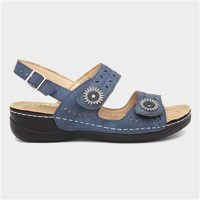 Meryl Womens Navy Sandal