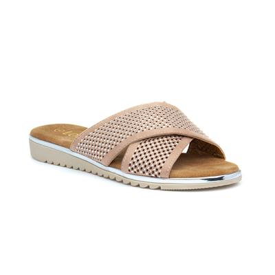 Tansy Womens Nude Mule Sandal