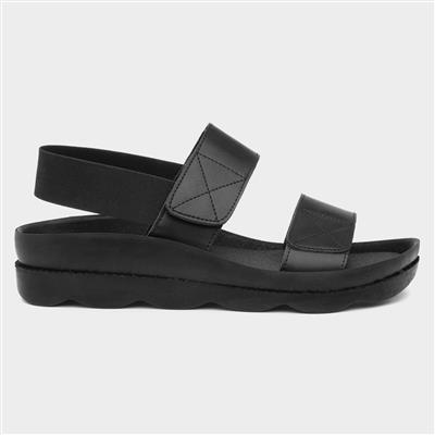 Womens Touch Fasten Sandal in Black