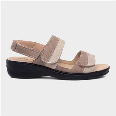 Womens Comfort Sandal in Beige