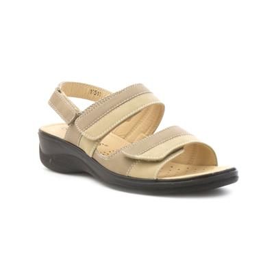 Womens Comfort Sandal in Beige
