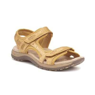 Frisco Womens Yellow Leather Sandal