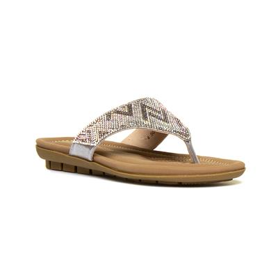 Patti Womens Diamante Toe Post Sandal