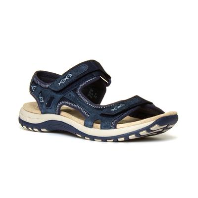 Frisco Womens Navy Easy Fasten Sandal