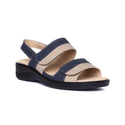Womens Navy & Beige Comfort Sandal