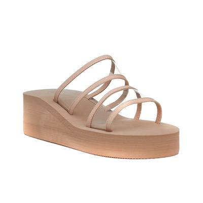 Eva Womens Nude Wedge Sandal