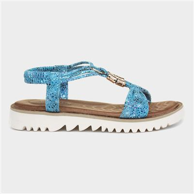 Lilly Womens Sandal in Blue